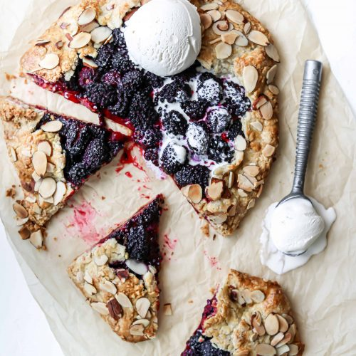 Blackberry and Almond Crostata