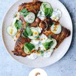 Smokey Paprika Chicken with Cucumber Tzatziki
