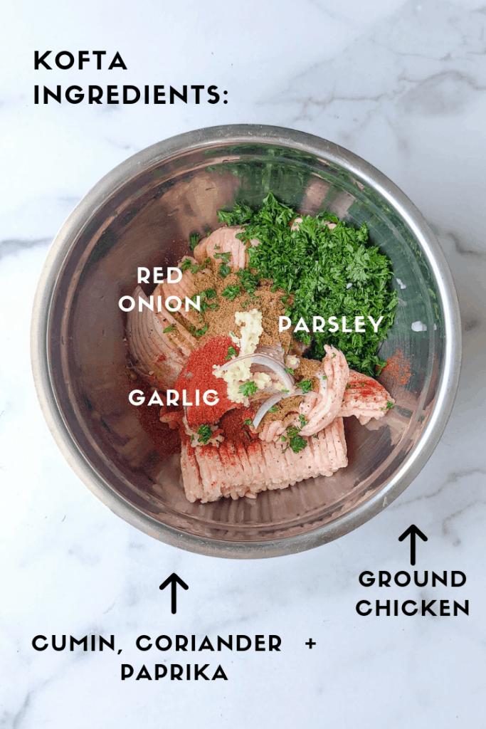 Process photo: Chicken Kofta ingredients