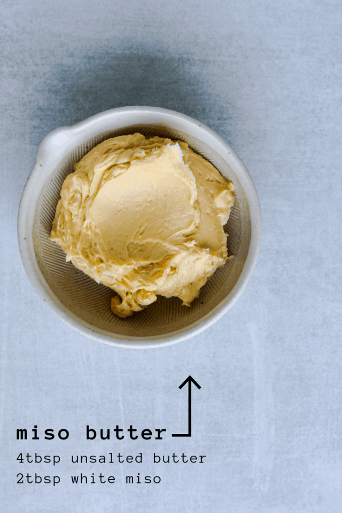miso butter ingredients and recipe