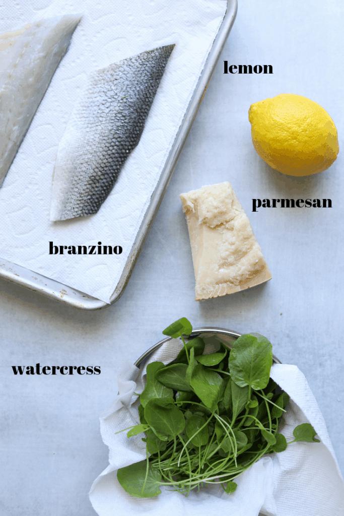 Ingredients for Five-Ingredient Crispy Skin Branzino