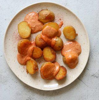 Oven-Roasted Pappas Bravas with Smokey Tomato Aioli