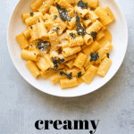 Pumpkin Rigatoni with Crispy Sage