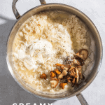 Creamy Roasted Mushroom Risotto with Truffle Oil