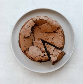 Flourless Chocolate Hazelnut Espresso Cake