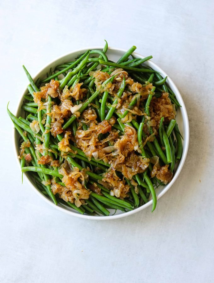 French Green Beans with Caramelized Shallots