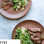 Five-Ingredient Steak Salad with Farro, Arugula, and Feta