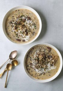 Two bowls of Wild Rice and Mushroom Soup