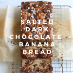 Salted Dark Chocolate Banana Bread