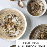 Wild Rice and Mushroom Soup (Dairy-Free)