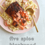 five spice blackened salmon salad