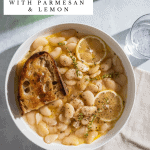 Brothy White Beans with Parmesan + Lemon