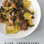 Five-Ingredient Creamy Goat Cheese and Sausage Ravioli