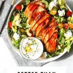 Buffalo Chicken Salad with Buttermilk Blue Cheese Dressing