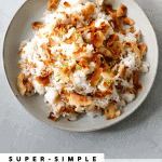 Toasted Coconut Lime Rice