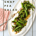 Roasted Snap Peas with Yogurt and Garlic Chili Oil