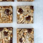 six Toasted Coconut Chocolate Chip Blondie squares