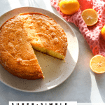 Meyer Lemon Polenta Cake