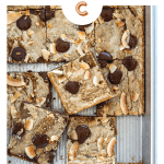 Toasted Coconut Chocolate Chip Blondies