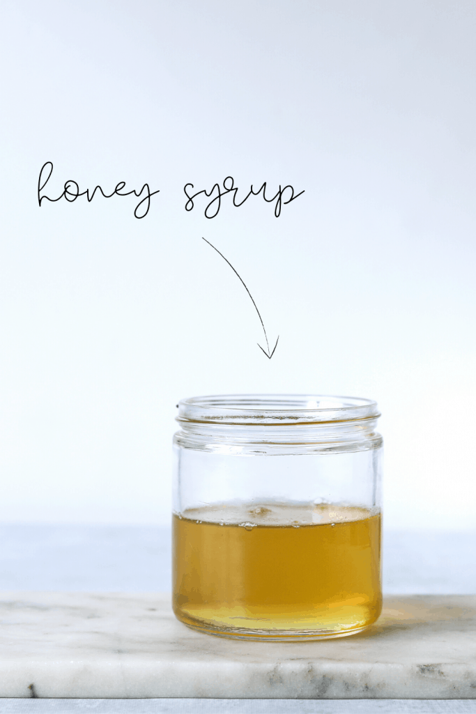 Honey Syrup in a glass jar