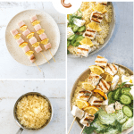 Grilled Swordfish Kebabs with Green Goddess Yogurt