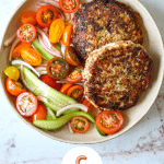 Juicy Turkey Burgers with Zucchini and Feta