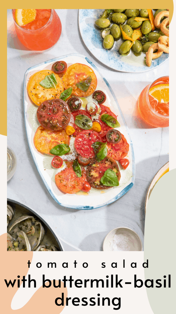 Tomato Salad with Buttermilk-Basil Dressing